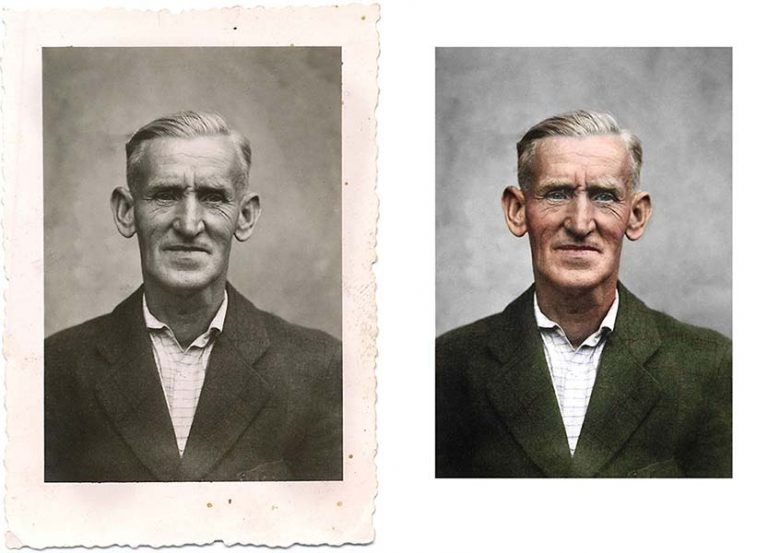Example Photo Colorization