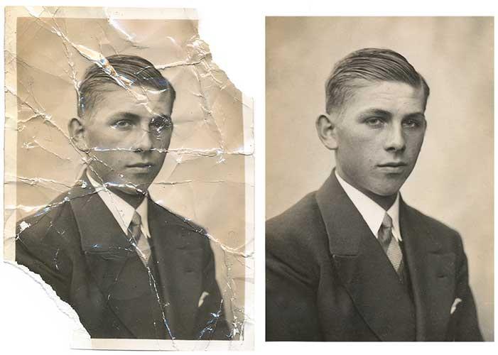 Example Photo Restoration Major Damages