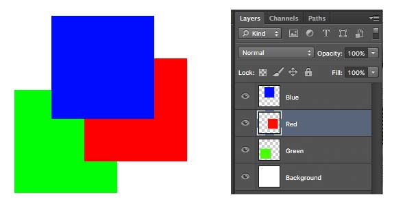 changing order of layers in Photoshop