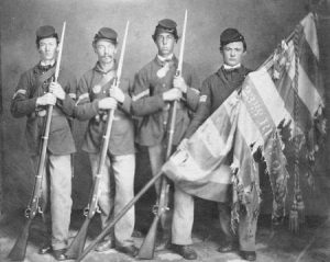 photo of Color guard of the 23rd Ohio Volunteer Infantry