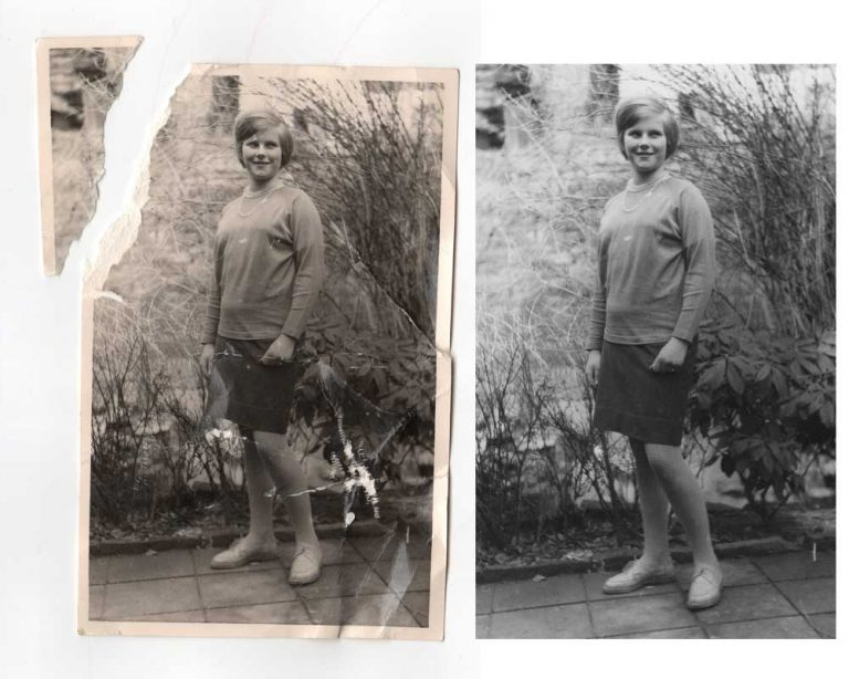 Example for good photo restoration